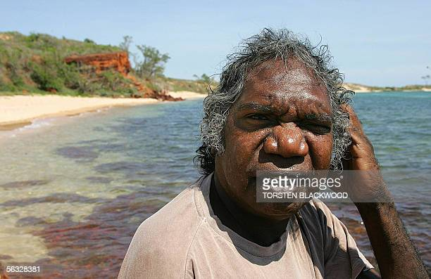 Gumatj Aboriginal elder and lead singer for the Australian band Yothu Yindi , Mandawuy Yunupingu, visits Shady Beach near his Yirrkala Dhanbul...