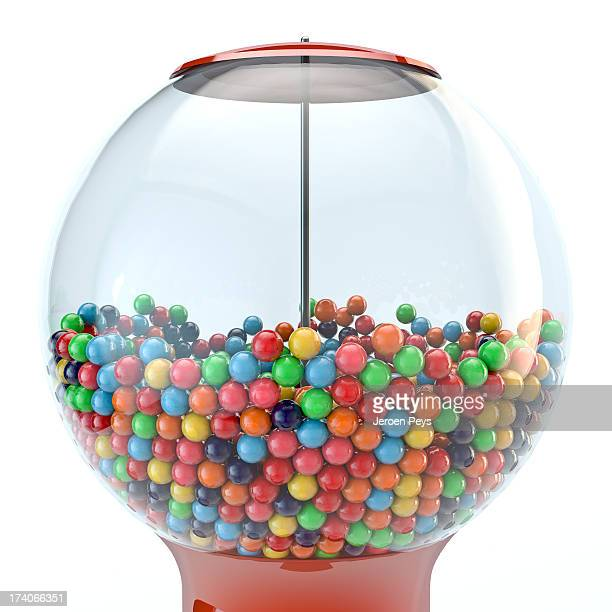 gumball machine 3d render - gumball machine stock pictures, royalty-free photos & images
