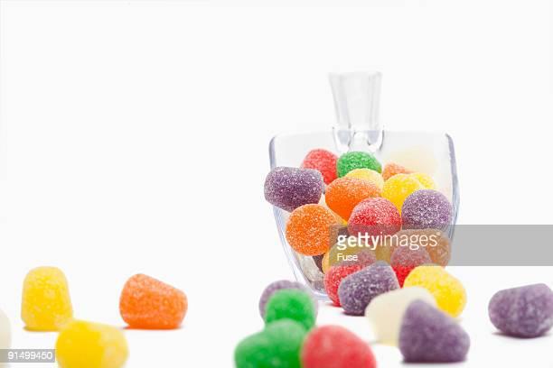 gumdrops in scoop - gum drop stock photos and pictures