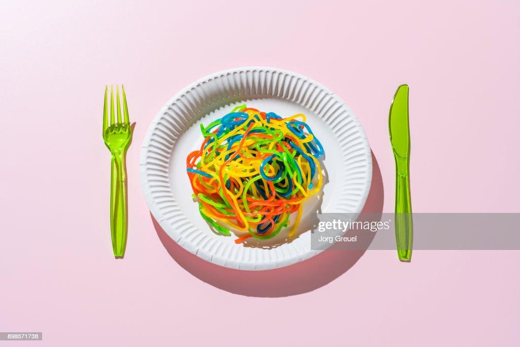 Gummi noodles : Stock Photo