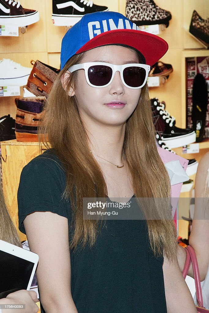 Gummi of South Korean girl group Crayon Pop is seen upon arrival at Gimpo International Airport on August 5, 2013 in Seoul, South Korea.