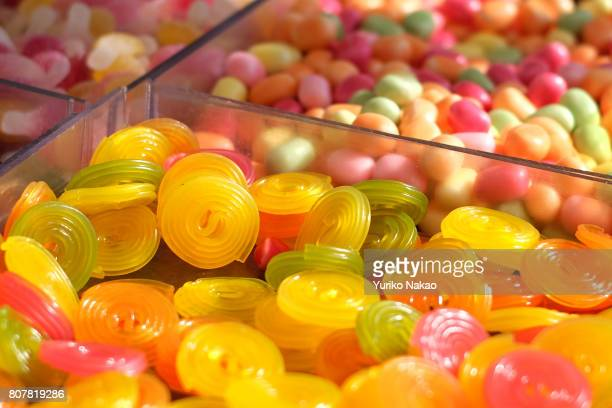 Gummies and other confectioneries are sold at a stall on June 23 in Paris France 'n