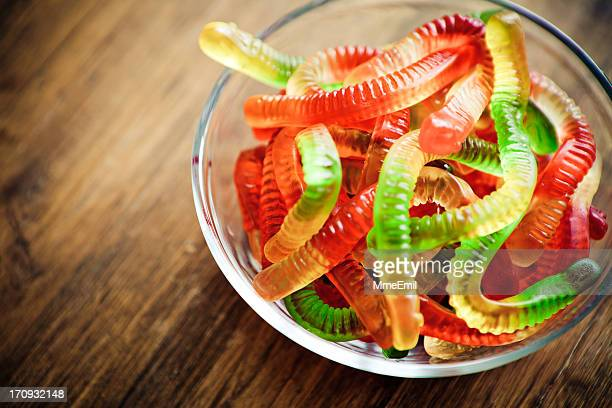 gummies: worm - worm stock photos and pictures