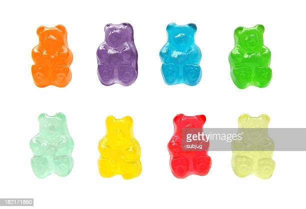 gummy bears - sweet food stock pictures, royalty-free photos & images