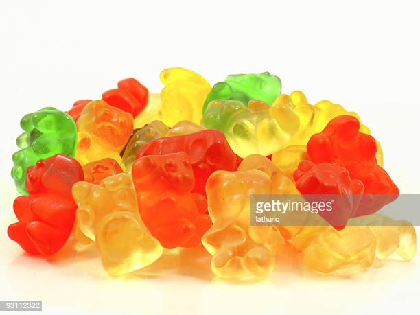 gummy bears stack - gum drop stock photos and pictures