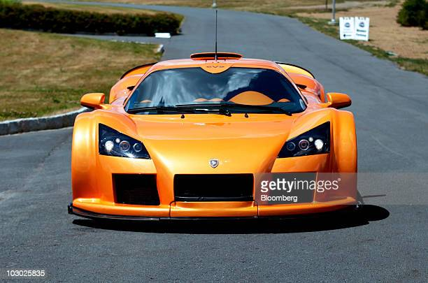 Gumpert Apollo supercar is photographed on the track at Monticello Motor Club in Monticello, New York, U.S., on Sunday, July 11, 2010. The Apollo...