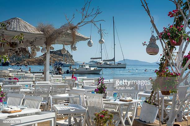 Gumusluk, a seaside village and fishing port in Bodrum,The Aegean Coast, Turkey, is situated on the remains of the ancient city of Myndos.
