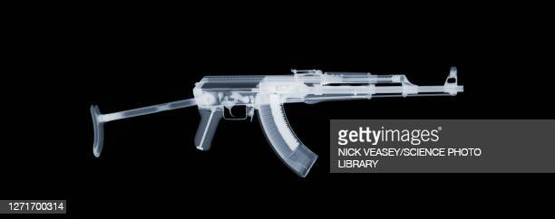 gun, ak47 assault rifle, x-ray - ammunition stock pictures, royalty-free photos & images