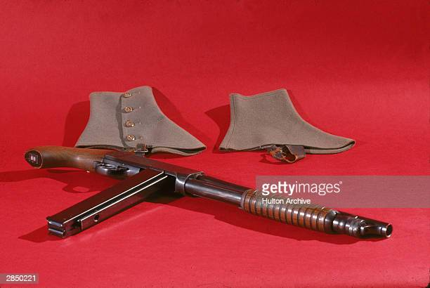 Gun and spats used by American gangster Al Capone 1930's