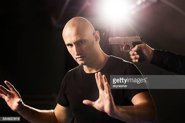 Pistola ataque.