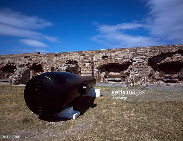 Gun battery at Fort Sumter Charleston South Carolina