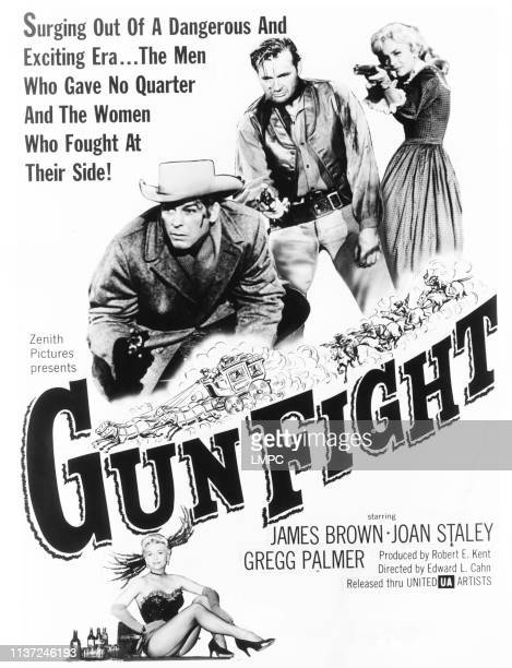 Gun Fight poster US poster top from left James L Brown Gregg Palmer Joan Staley 1961