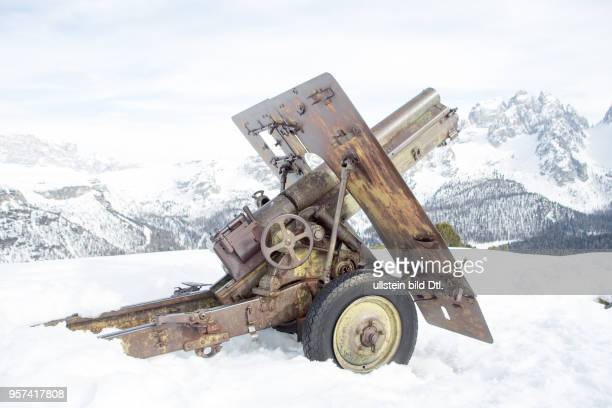 Gun from WW1 in Dolomites
