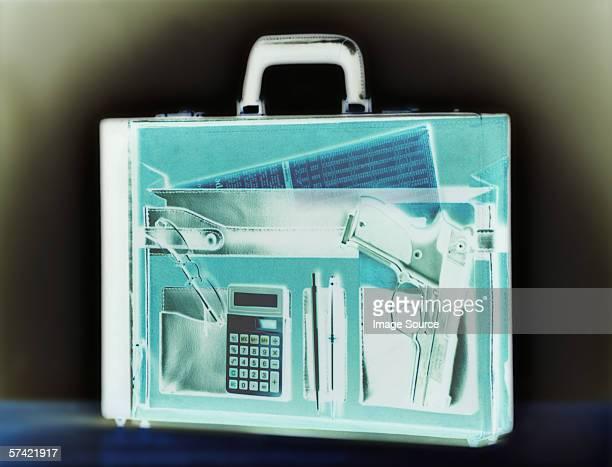 Gun in a briefcase