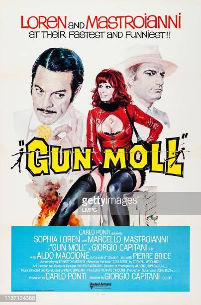 Gun Moll poster US poster art from left Marcello Mastroianni Sophia Loren Aldo Maccione 1975