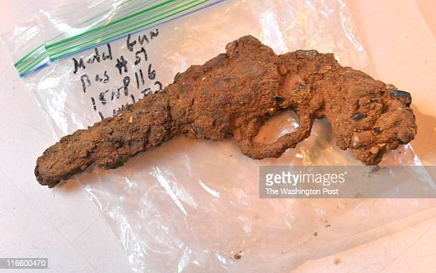 A gun one of the many items uncovered at an historic African American home by a team of graduate and undergraduate students part of the...