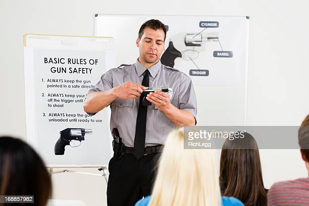 gun safety class - training course stockfoto's en -beelden