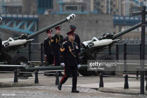 Gun salutes have rung out at The Tower of London to commemorate the historic Queen's Sapphire Jubile in which she became the first British monarch to...