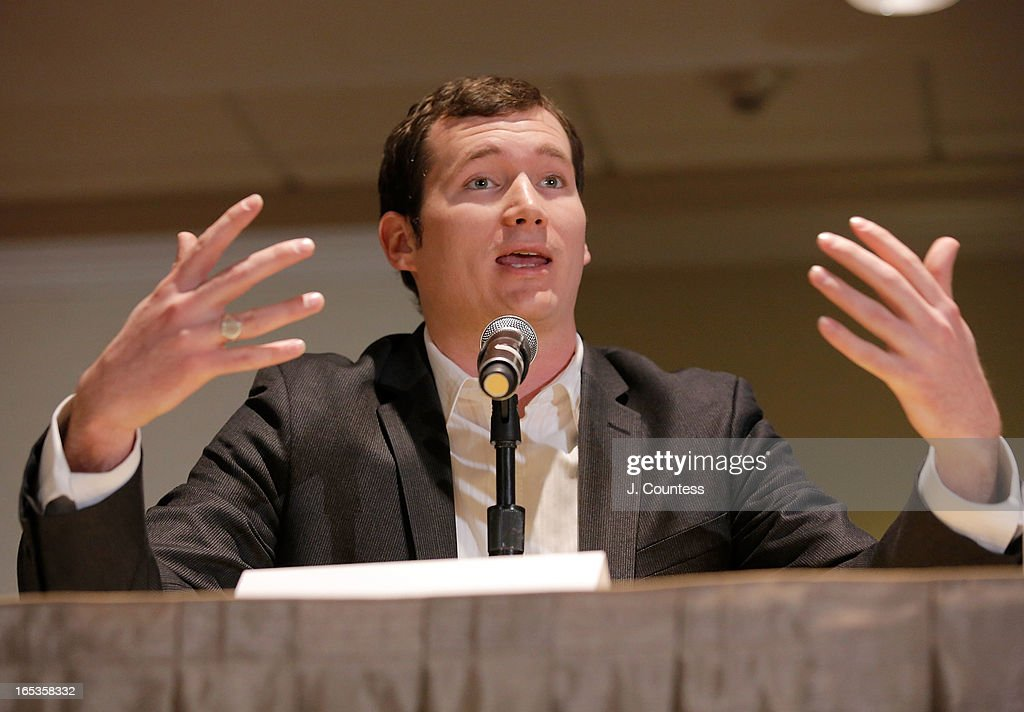 Gun violence activist with the Brady Campaign, Colin Goddard, speaks during the panal 'Gun Violence: Addressing Real Reform' during the 2013 NAN National Convention Day 1 at New York Sheraton Hotel & Tower on April 3, 2013 in New York City.
