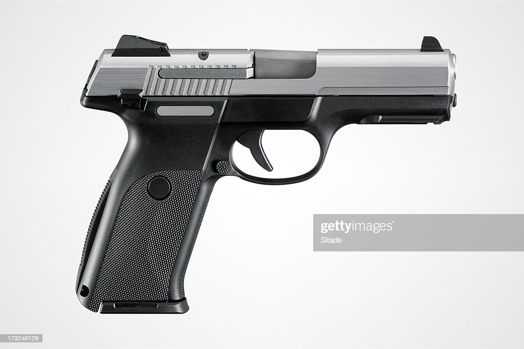 Gun With Clipping Path : Stock Photo