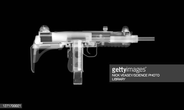 uzi gun, x-ray - machine gun stock pictures, royalty-free photos & images
