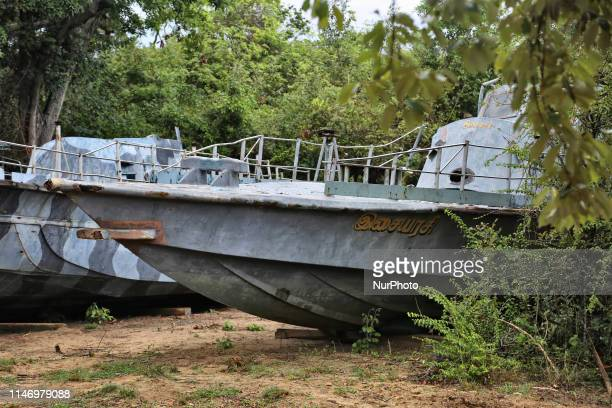 Gunboats that belonged to the LTTE Sea Tigers and were captured by the Sri Lankan armed forces during the end of the of 26year long civil war between...