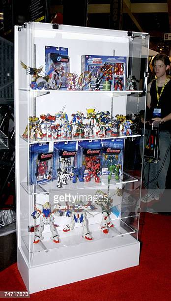 Gundam display at the Bandai booth Gamers and designers reveled in the final day of E3 at the Los Angeles Convention Center in Los Angeles California