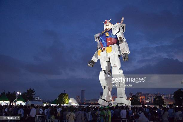 Gundam was series of Japanese anime created by Sunrise studios that featured giant robots called 'Gundam' An eighteen metres tall statue of the title...