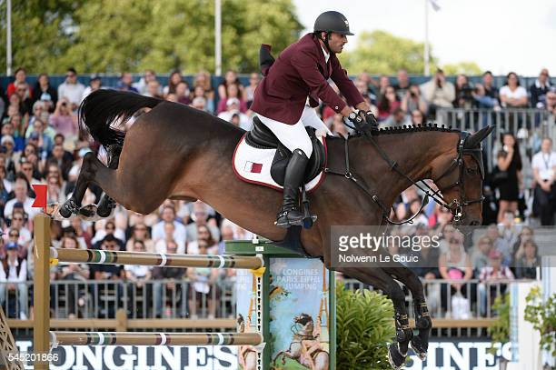 Gunder ridden by Ali Al Rumaihi during Longines Paris Eiffel Jumping on July 2 2016 in Paris France