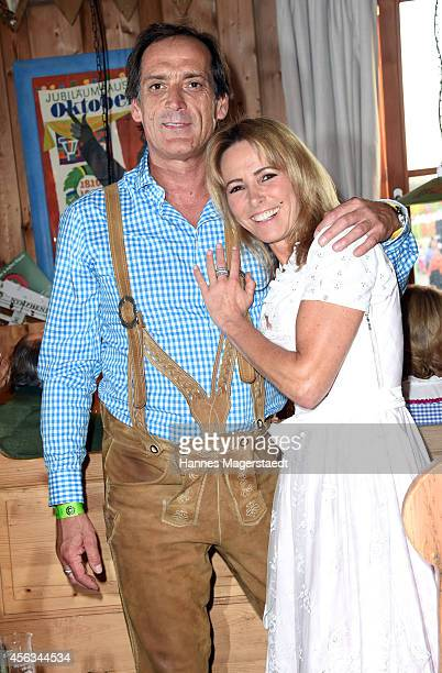 Gundis Zambo and Christoph Mahrdt attend the Sauerland Wiesn at Weinzelt during Oktoberfest at Theresienwiese on September 29 2014 in Munich Germany