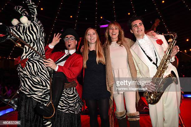 Gundis Zambo and her daughter Greta attend the 'Circus Krone Christmas Show 2014' at Circus Krone on December 25 2014 in Munich Germany