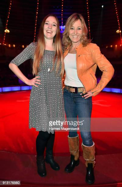 Gundis Zambo and her daughter Greta during Circus Krone celebrates premiere of 'Hommage' at Circus Krone on February 1 2018 in Munich Germany