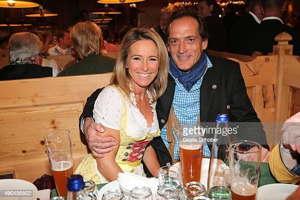 Gundis Zambo and her husband Christoph Mahrdt during the 'Sauerland Stammtisch' at Oktoberfest 2015 at Weinzelt /Theresienwiese on September 28 2015...