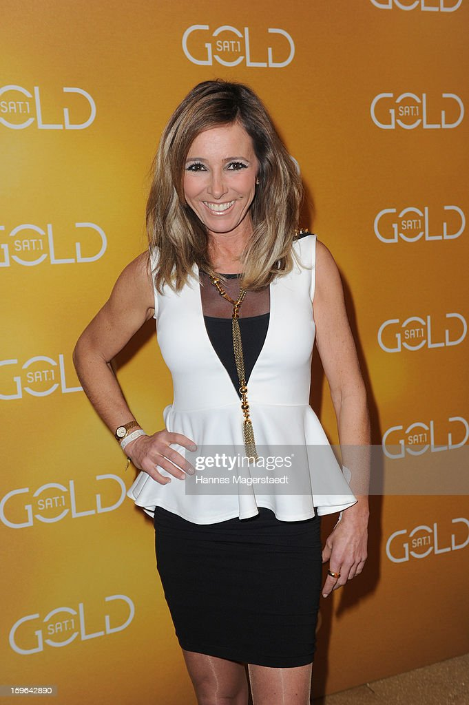 Gundis Zambo attends the Sat.1 GOLD TV Channel Launch at the Filmcasino on January 17, 2013 in Munich, Germany.