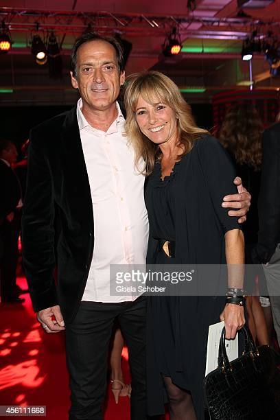 Gundis Zambo r and husband Christoph Mahrdt arrive at Tribute To Bambi 2014 at Station on September 25 2014 in Berlin Germany