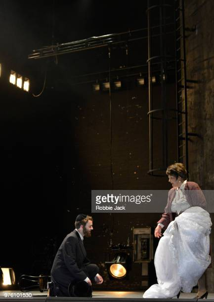 Gundula Hintz as Esther and Collin Shay as Yoel in the Royal Opera's production of Na'ama Zisser's Mamzer Bastard directed by Jay Scheib and...