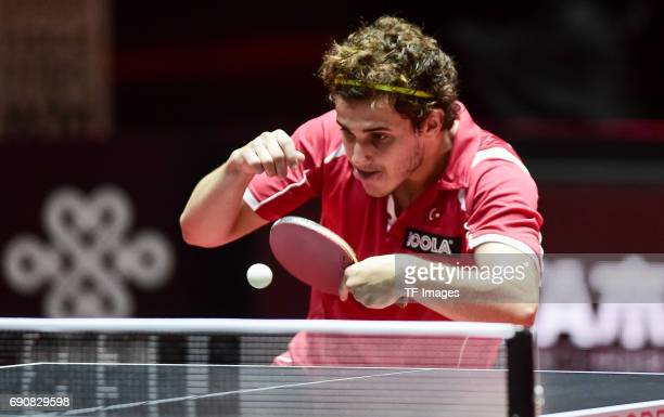 Gunduz Ibrahim of Turkey in action during the Table Tennis World Championship at Messe Duesseldorf on May 29, 2017 in Dusseldorf, Germany.