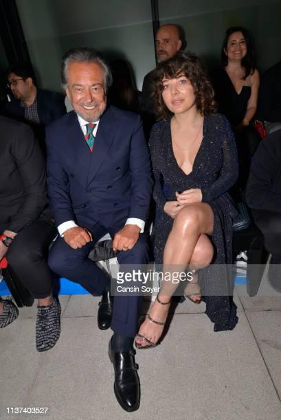 Guneri Civaoglu attends the Ezra Tuba show during MercedesBenz Fashion Week Istanbul March 2019 at Zorlu Center on March 21 2019 in Istanbul Turkey