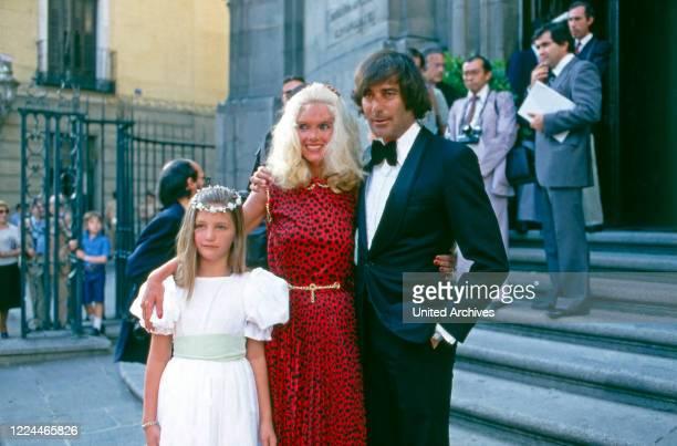 Gunilla Countess of Bismarck at the wedding of her brother Maximilian von Bismarck Schoenhausen with Barbara Meijer at Madrid Spain 1981