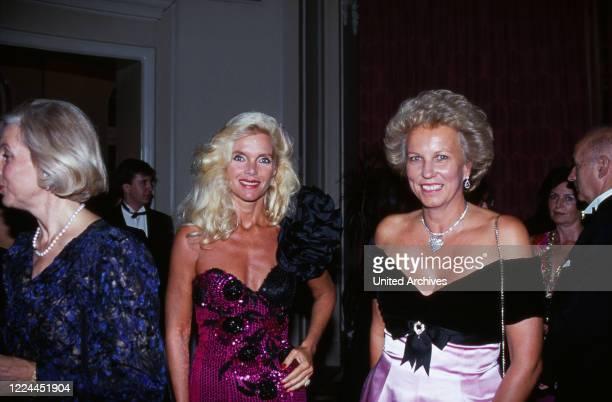 Gunilla Countess von Bismarck at an evening event Germany 1995