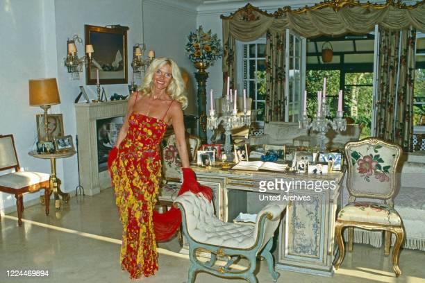 Gunilla Countess von Bismarck at Marbella Spain 1999