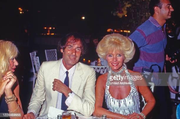 Gunilla Countess von Bismarck with Luis Ortiz at Marbella Spain 1999