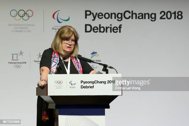 Gunilla Lindberg PyeongChang 2018 Coordination Commission Chairperson attends the PyeongChang 2018 Debrief on June 4 2018 in Beijing China