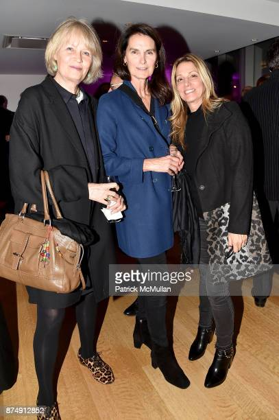 Gunilla Lindblad Diane Marshall and Lori Modugno attend Barbara Tober hosts a party for AVEDON Something Personal at Museum of Art and Design on...