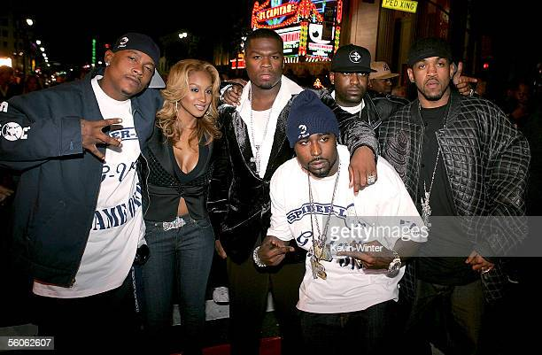 71d281dc6f Unit members Olivia Spider Loc Lloyd Banks Tony Yayo and Young Buck arrive  at the Premiere