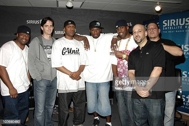 Unit's Coach PR, SVP, Music Programming at SIRIUS, Steve Blatter, G-Unit's DJ Mandog, Rap Artist 50 Cent, G-Unit's DJ Whoo Kid, Senior Producer,...
