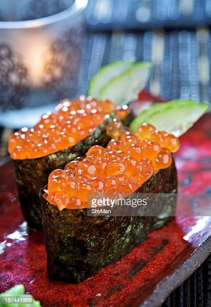 Gunkan sushi with caviar