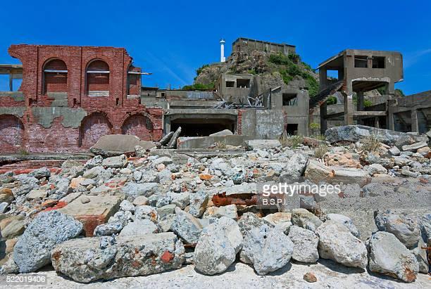 Gunkanjima Battleship Island Near Nagasaki in Kyushu, Japan
