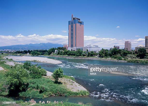 gunma prefectural office, maebashi, gunma, japan - maebashi city stock photos and pictures