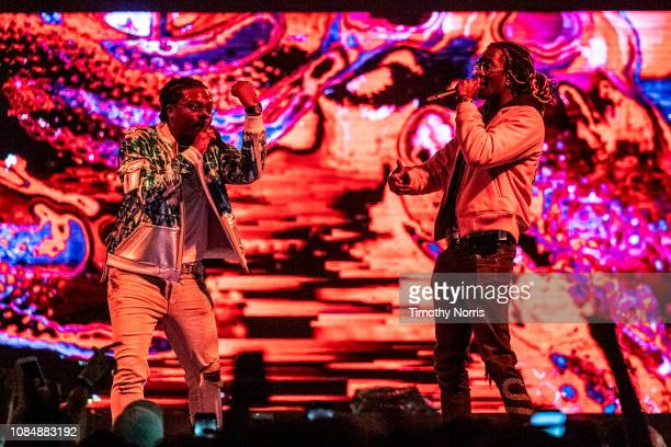 Gunna an Young Thug perform at The Forum on December 19 2018 in Inglewood California